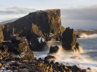 North Atlantic Coast During Winter Near Reykjanesviti and Valahnukur. Iceland-Martin Zwick-Photographic Print