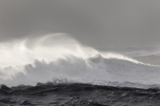 North Atlantic Coast Near Vik Y Myrdal During a Winter Storm with Heavy Gales-Martin Zwick-Photographic Print