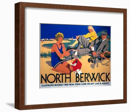 North Berwick, LNER, c.1923-Frank Newbould-Framed Art Print
