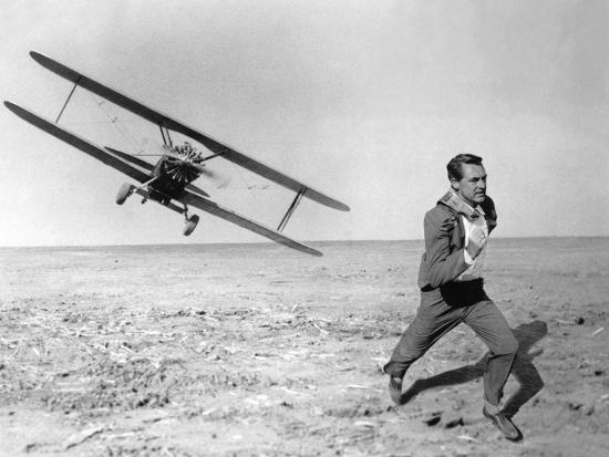 NORTH BY NORTHWEST, 1959 directed by ALFRED HITCHCOCK Cary Grant (b/w photo)--Photo