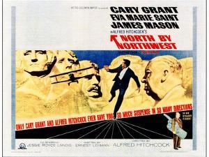 North by Northwest, Cary Grant, Alfred Hitchcock on 1966 Poster Art, 1959