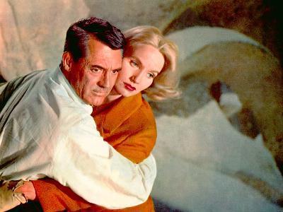 North By Northwest, Cary Grant, Eva Marie Saint, 1959, Clinging--Photo