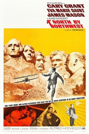 North by Northwest, Cary Grant, Eva Marie Saint, Alfred Hitchcock, 1959