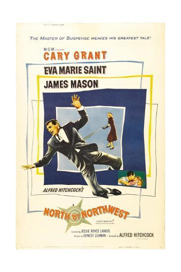 North by Northwest, Cary Grant, Eva Marie Saint on Poster Art, 1959--Giclee Print