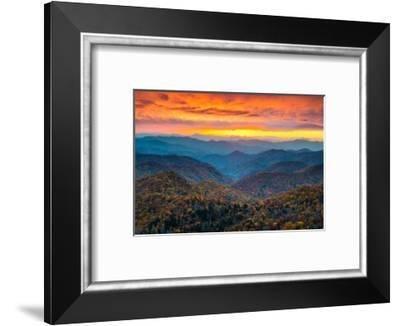 North Carolina Blue Ridge Parkway Mountains Sunset Scenic Landscape Near Asheville Nc During The A Photographic Print By Dave Allen Photography