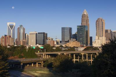 North Carolina, Charlotte, City Skyline from Route 74, Morning-Walter Bibikow-Photographic Print
