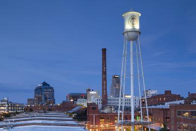 North Carolina, Durham, American Tobacco and City Center Complex, Dusk-Walter Bibikow-Photographic Print
