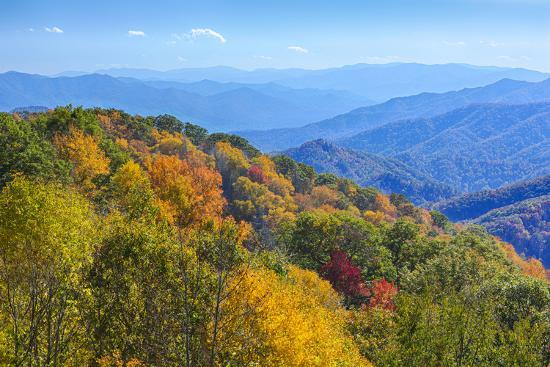 North Carolina, Great Smoky Mountains NP, View from Newfound Gap Road-Jamie & Judy Wild-Photographic Print