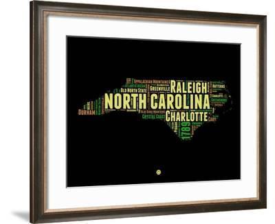 North Carolina Word Cloud 1-NaxArt-Framed Art Print