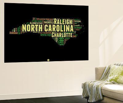 North Carolina Word Cloud 1-NaxArt-Wall Mural