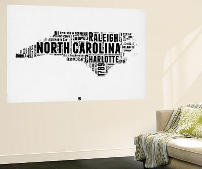 North Carolina Word Cloud 2-NaxArt-Wall Mural