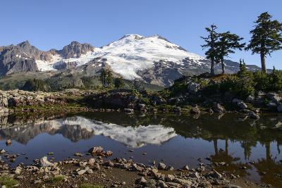 North Cascades, Washington. Mt. Baker and Reflection, on Park Butte-Matt Freedman-Photographic Print