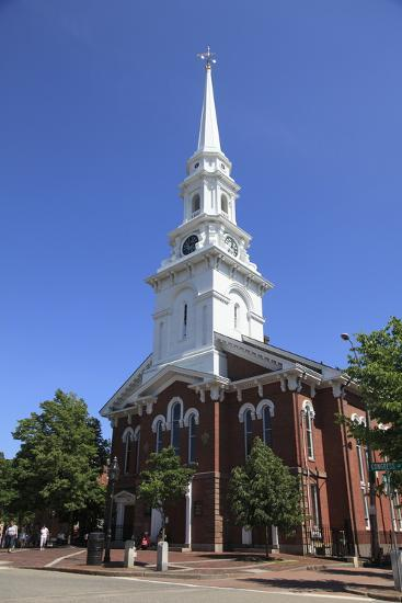 North Church, Portsmouth, New Hampshire, New England, United States of America, North America-Wendy Connett-Photographic Print