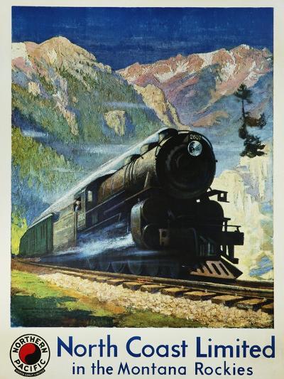 North Coast Limited in the Montana Rockies Poster-Gustav Krollmann-Giclee Print