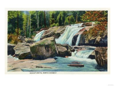 North Conway, New Hampshire - View of Diana's Bath-Lantern Press-Art Print