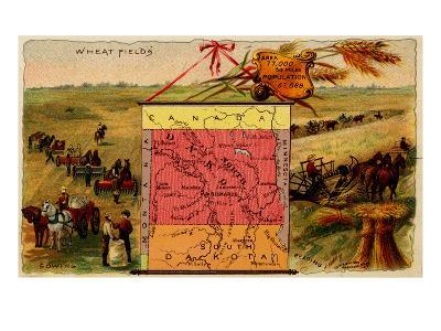 North Dakota-Arbuckle Brothers-Art Print