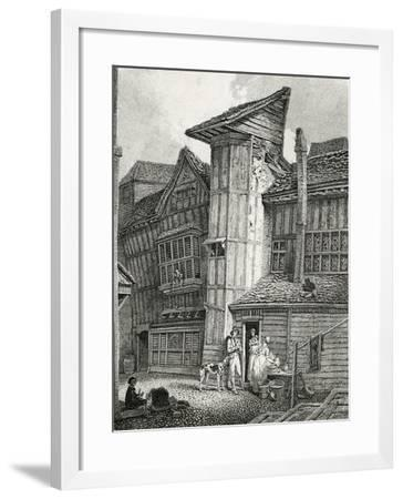 North East View of an old house lately standing in Sweedon's Passage, Grub Street, 1791--Framed Giclee Print