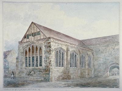 North-East View of Leadenhall Chapel, City of London, 1805--Giclee Print
