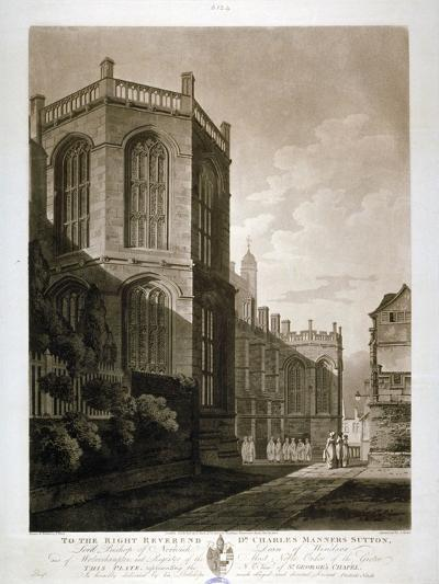 North-East View of St George's Chapel, Windsor Castle, Berkshire, 1804-J Jeakes-Giclee Print