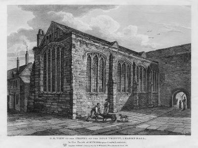 North-East View of the Chapel of the Holy Trinity, Leadenhall, London, 1825-Thomas Dale-Giclee Print