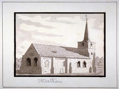 North-East View of the Church of St Leonard, Streatham, Lambeth, London, C1800--Giclee Print