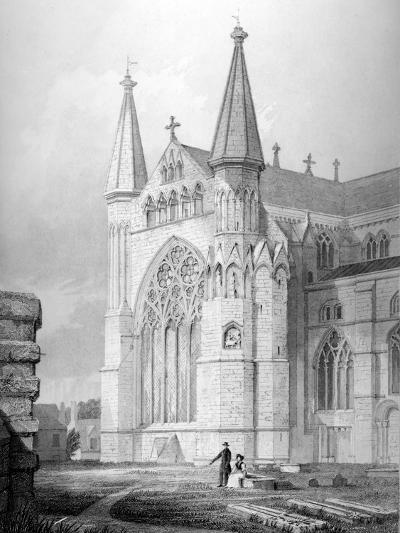 North End of Durham Cathedral, 1843--Giclee Print