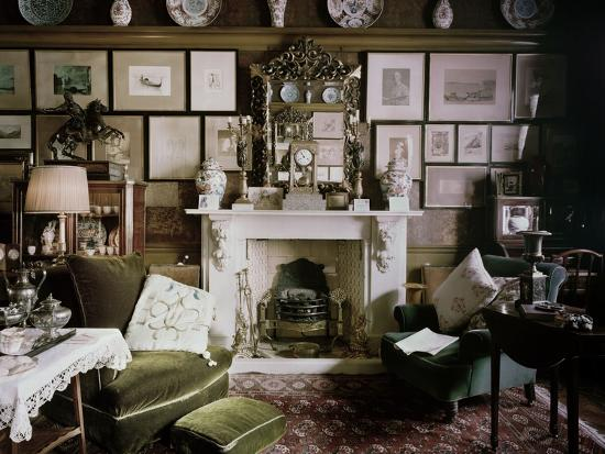 North End Of The Drawing Room Of 18 Stafford Terrace Kensington And
