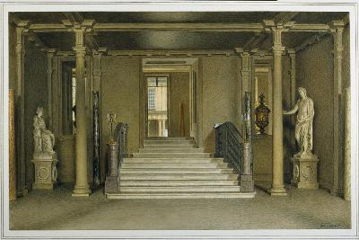 North Entrance Hall at Chatsworth House-William Henry Hunt-Giclee Print