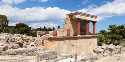 North Entrance of Minoan Palace, Knossos, Iraklion, Crete, Greece--Photographic Print