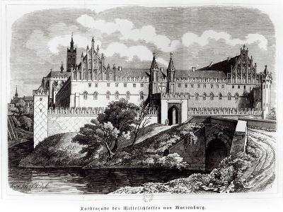 North Facade of the Castle of Marienburg--Giclee Print