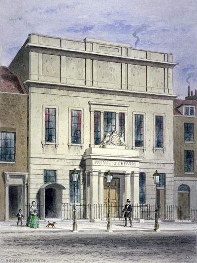 North Front of Princess's Theatre on Eastcastle Street, St Marylebone, London, C1830-Thomas Hosmer Shepherd-Giclee Print