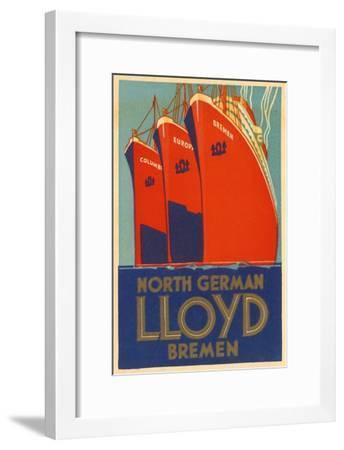 North German Lloyd Bremen--Framed Giclee Print