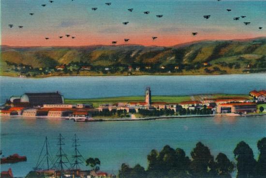 'North Island. U.S. Naval Air Station. San Diego, California', c1941-Unknown-Giclee Print