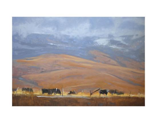 North Powder Cows-Todd Telander-Art Print