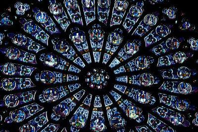 North Rose Window of Notre Dame Cathedral, Paris, Ile-De-France, France--Giclee Print