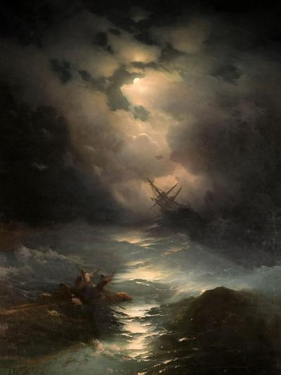 North Sea Storm, 1865-Ivan Konstantinovich Aivazovsky-Giclee Print