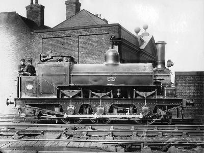 North Staffordshire 0-6-0 Steam Locomotive with Driver and Fireman on the Footplate, 19th Century--Photographic Print
