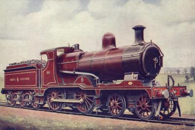 North Staffordshire Railway 4-4-0 Locomotive No 86--Giclee Print