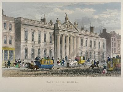 North View of East India House, Leadenhall Street, City of London, 1850-William Wallace-Giclee Print