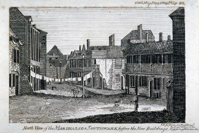 North View of Marshalsea Prison on Borough High Street, Southwark, London, 1804--Giclee Print