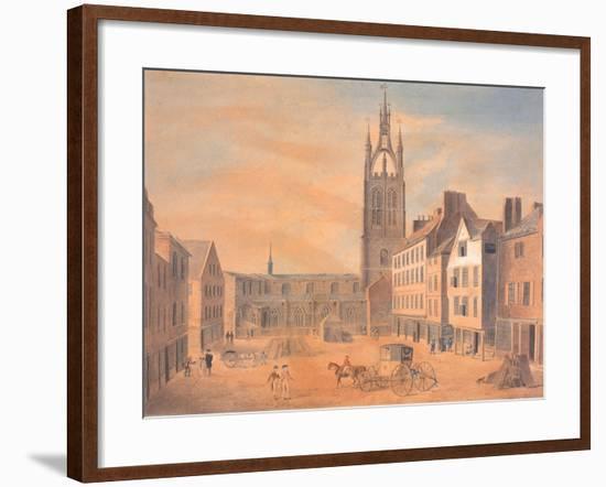 North View of St Nicholas' Church-Robert Johnson-Framed Giclee Print