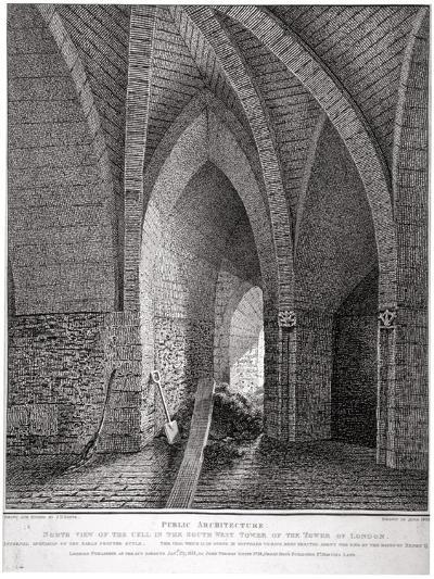 North View of the Cell in the South-West Tower of the Tower of London, 1802-John Thomas Smith-Giclee Print