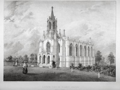 North View of the Church of St James, Clapham, London, C1850-W Eldridge-Giclee Print
