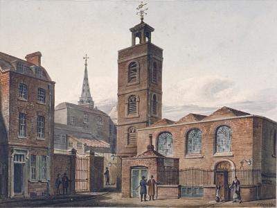 North View of the Church of St James, Duke's Place and Adjacent Buildings, City of London, 1810-John Coney-Giclee Print