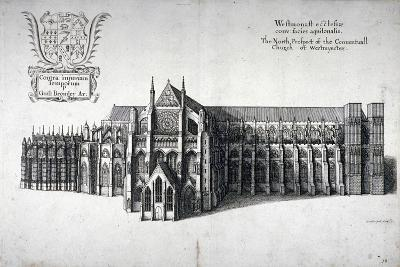 North View of Westminster Abbey, London, 1654-Wenceslaus Hollar-Giclee Print