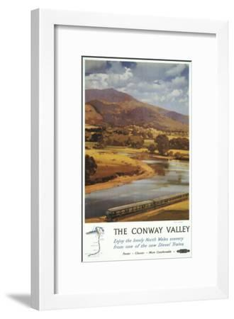 North Wales, England - Conway Valley Scene British Railways Poster-Lantern Press-Framed Art Print