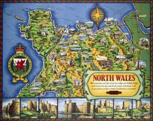 North Wales Map