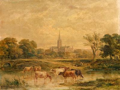 North-West Prospect of Salisbury Cathedral, Wiltshire--Giclee Print