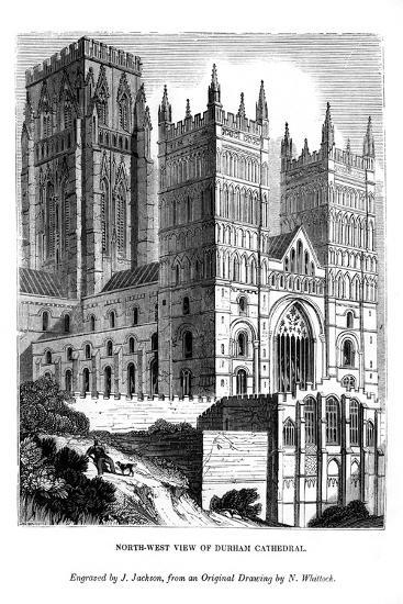 North West View of Durham Cathedral, 1843-J Jackson-Giclee Print