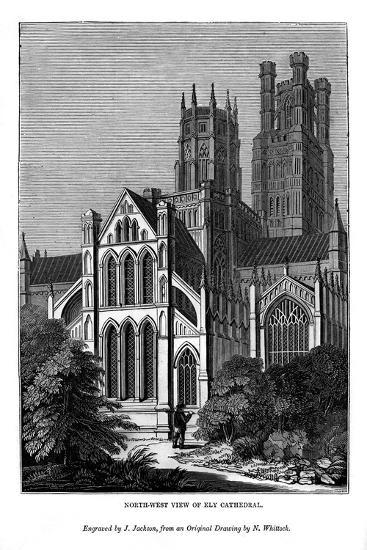 North West View of Ely Cathedral, 1843-J Jackson-Giclee Print